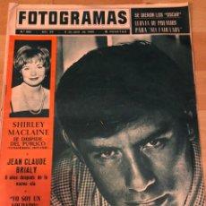 Cine: FOTOGRAMAS ABRIL 1965.LUIGI GIULIANNI.JAMES BOND 007 GOLDFINGER SEAN CONNERY.MELINA MERCOURI.. Lote 182841510