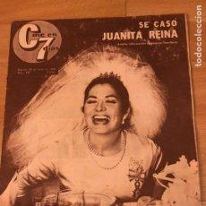 Cinema: CINE EN 7 DÍAS JUNIO 1964.BODA JUANITA REINA.LA TÍA TULA AURORA BAUTISTA.WILLIAM HOLDEN.MIGUEL RIOS. Lote 182843970