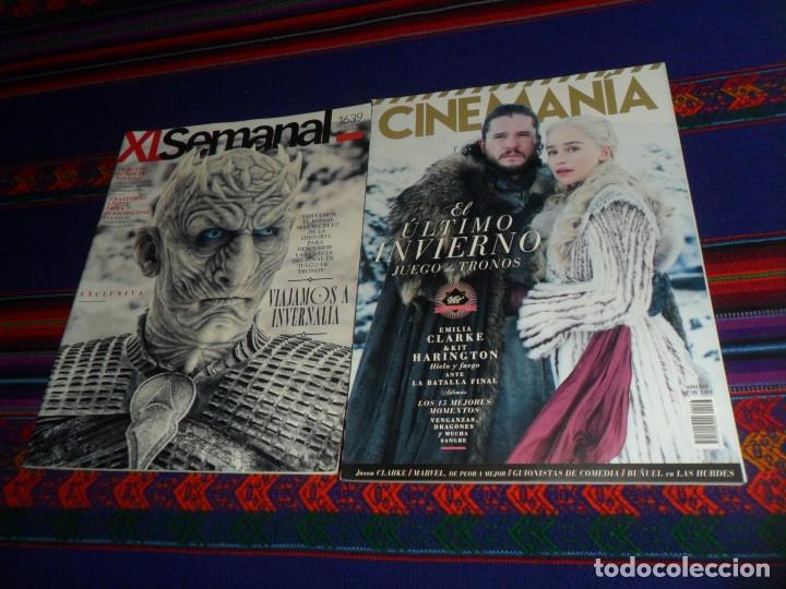 CINEMANÍA Nº 283. ABRIL 19. JUEGO DE TRONOS. REGALO XL SEMANAL Nº 1639, EL FINAL DE LA SERIE. (Cine - Revistas - Cinemanía)