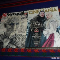 Cine: CINEMANÍA Nº 283. ABRIL 19. JUEGO DE TRONOS. REGALO XL SEMANAL Nº 1639, EL FINAL DE LA SERIE. . Lote 182845367