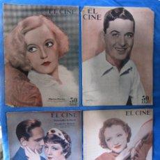 Cine: LOTE DE 11 REVISTAS CINEMATOGRÁFICAS EL CINE. ALREDEDOR DE 1930.. Lote 182895608