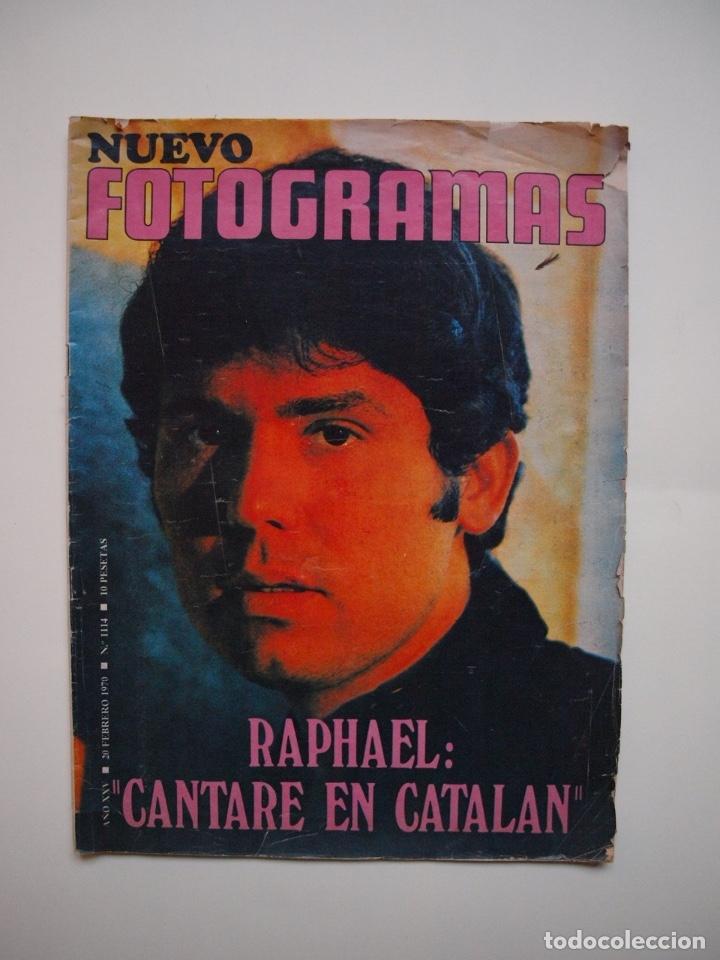 NUEVO FOTOGRAMAS Nº 1114 - RAPHAEL: CANTARÉ EN CATALÁN - FEBRERO 1970 (Cine - Revistas - Fotogramas)