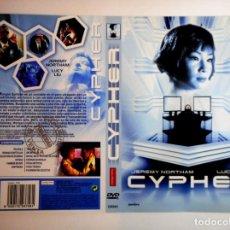 Cine: CARÁTULA CYPHER ( DVD ). Lote 183270202
