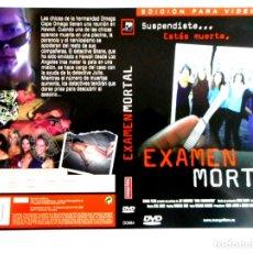 Cine: CARÁTULA EXAMEN MORTAL ( DVD ). Lote 183270742