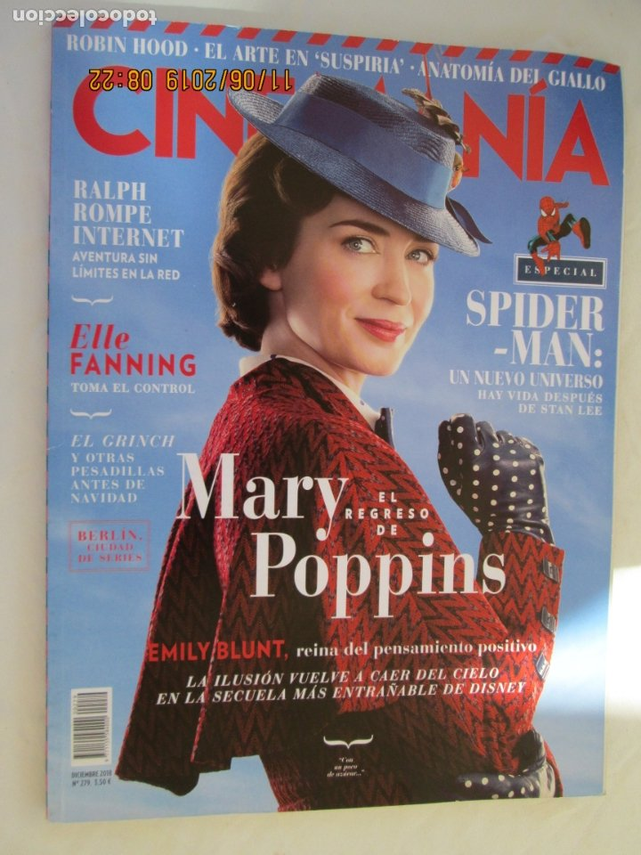 REVISTA CINEMANIA Nº 279 - EL REGRESO DE MARY POPPINS - ESPECIAL SPIDER-MAN - DICIEMBRE 2018. (Cine - Revistas - Cinemanía)