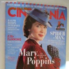 Cine: REVISTA CINEMANIA Nº 279 - EL REGRESO DE MARY POPPINS - ESPECIAL SPIDER-MAN - DICIEMBRE 2018. . Lote 183296108