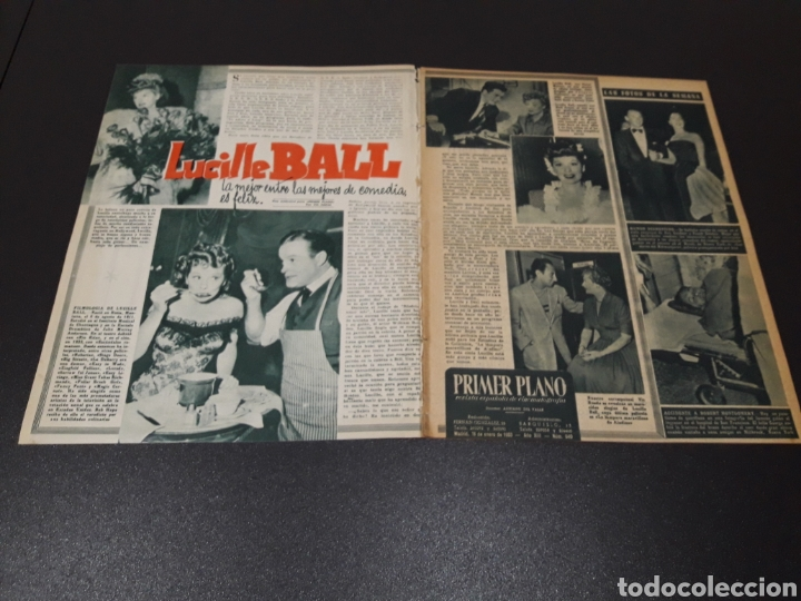 Cine: RITA HAYWORTH, LUCILLE BALL, MARIO CABRE, RAFAEL ALBAICIN, JOEL MC.CREA, JORGE LANZA. 18/01/1953. - Foto 2 - 183368835