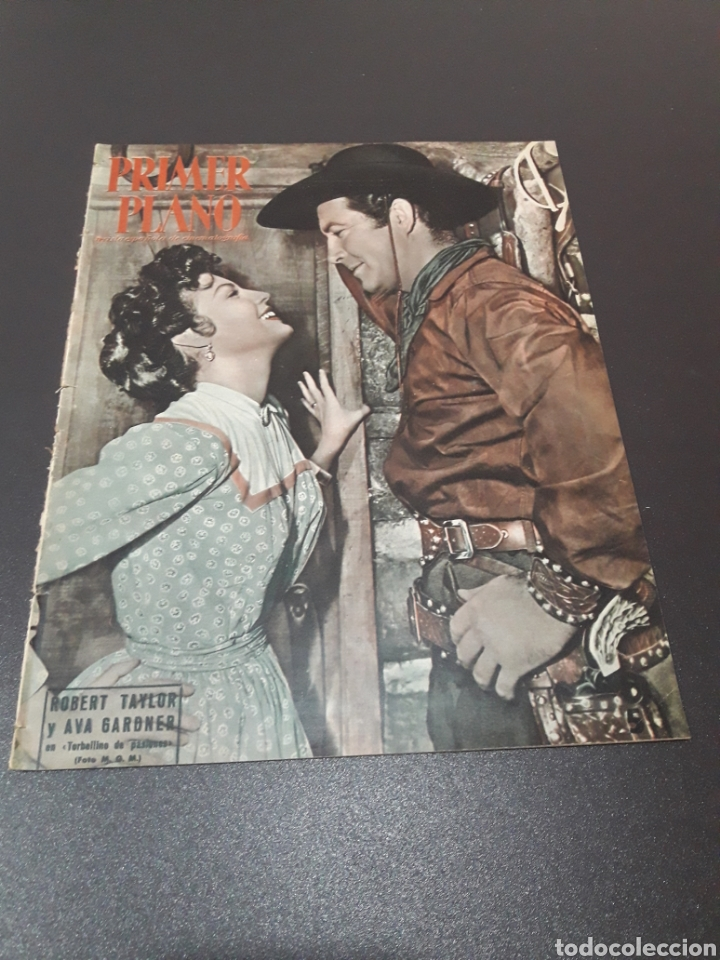 ROBERT TAYLOR, AVA GARDNER, GREGORY PEEK, LANA TURNER, MALU TICA. 01/03/1953. N° 646. (Cine - Revistas - Primer plano)