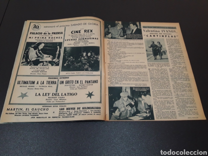 Cine: MARUCHI FRESNO, ANA MARISCAL, VIVIEN LEIGH, GENE KELLY, JOSÉ BOHR, BETTE DAVIS. 29/03/1953. N° 650. - Foto 3 - 183383317