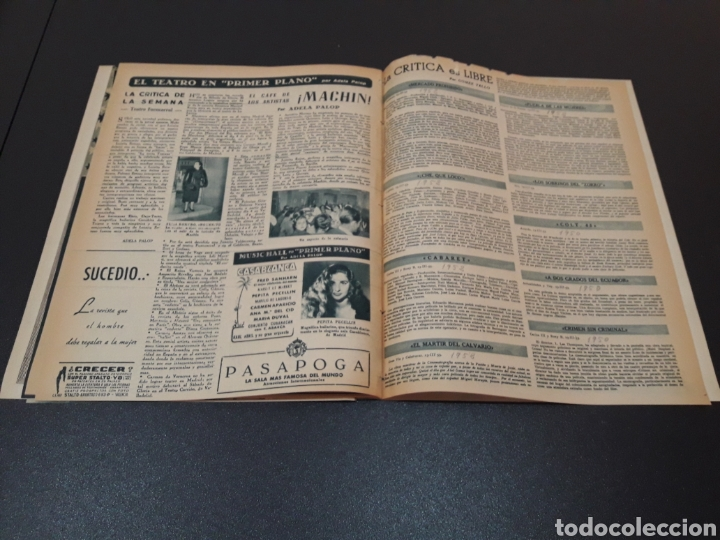 Cine: MARUCHI FRESNO, ANA MARISCAL, VIVIEN LEIGH, GENE KELLY, JOSÉ BOHR, BETTE DAVIS. 29/03/1953. N° 650. - Foto 15 - 183383317