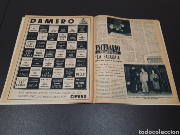Cine: ANA ESMERALDA, AVA GARDNER, VIVIEN LEIGH, JEAN COCTEAU. N° 652. 12/04/1953. - Foto 13 - 183396570