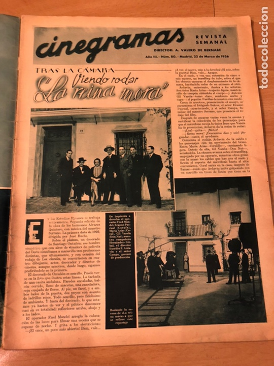 Cine: Cinegramas 80 marzo 1936.marta eggerth Brigitte helm norma shearer charlie chaplin charlot - Foto 2 - 183427632