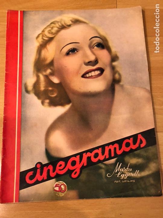 CINEGRAMAS 80 MARZO 1936.MARTA EGGERTH BRIGITTE HELM NORMA SHEARER CHARLIE CHAPLIN CHARLOT (Cine - Revistas - Cinegramas)