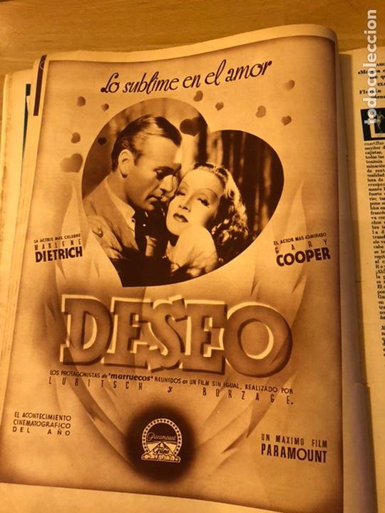 Cine: Cinegramas 83 abril 1936.marlene Dietrich deseo.claire trevor.morena clara Imperio Argentina - Foto 2 - 183429887