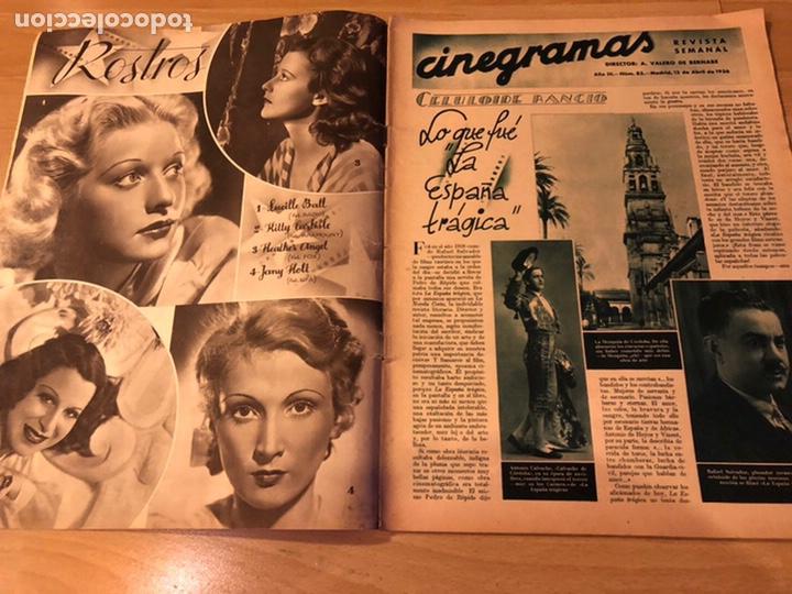 Cine: Cinegramas 83 abril 1936.marlene Dietrich deseo.claire trevor.morena clara Imperio Argentina - Foto 5 - 183429887