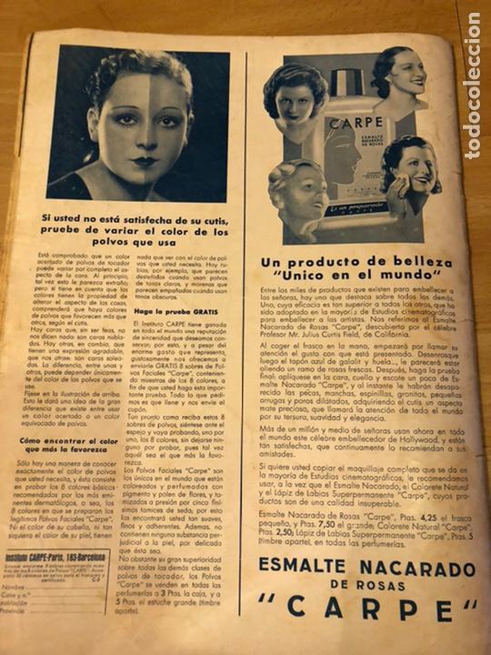 Cine: Cinegramas 83 abril 1936.marlene Dietrich deseo.claire trevor.morena clara Imperio Argentina - Foto 10 - 183429887