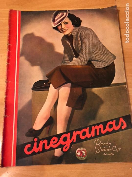 CINEGRAMAS 83 ABRIL 1936.MARLENE DIETRICH DESEO.CLAIRE TREVOR.MORENA CLARA IMPERIO ARGENTINA (Cine - Revistas - Cinegramas)