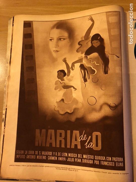 Cine: Cinegramas 93 1936.raquel rodrigo.maria de la o Carmen Amaya.buster keaton.imperio argentina astaire - Foto 2 - 183431336