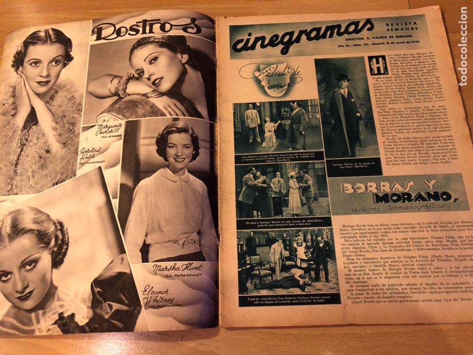 Cine: Cinegramas 93 1936.raquel rodrigo.maria de la o Carmen Amaya.buster keaton.imperio argentina astaire - Foto 7 - 183431336
