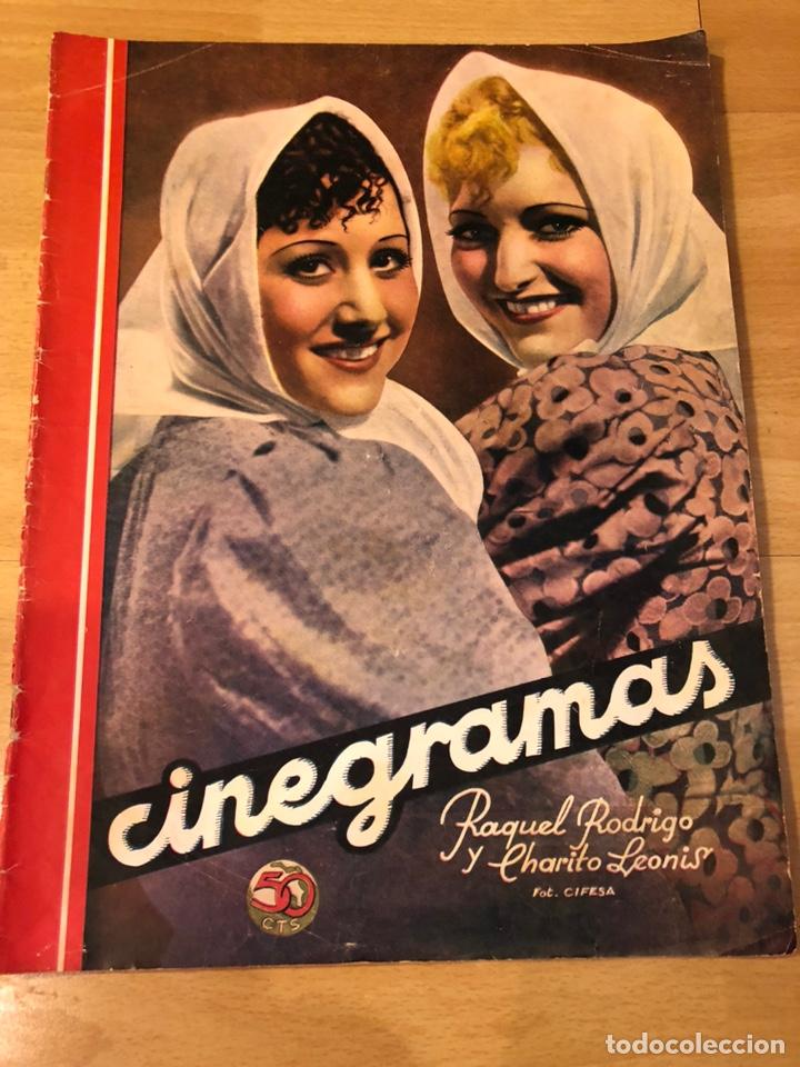 CINEGRAMAS 93 1936.RAQUEL RODRIGO.MARIA DE LA O CARMEN AMAYA.BUSTER KEATON.IMPERIO ARGENTINA ASTAIRE (Cine - Revistas - Cinegramas)