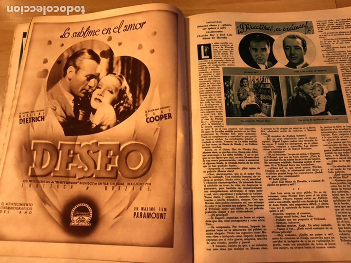 Cine: Cinegramas 83 abril 1936.marlene Dietrich deseo.claire trevor.morena clara Imperio Argentina - Foto 3 - 183431830