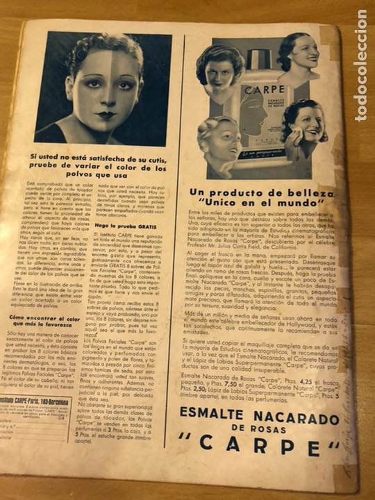 Cine: Cinegramas 83 abril 1936.marlene Dietrich deseo.claire trevor.morena clara Imperio Argentina - Foto 9 - 183431830