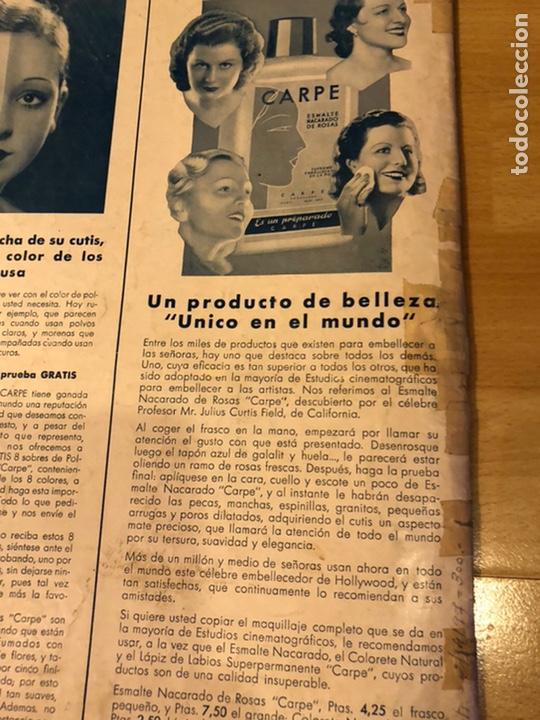 Cine: Cinegramas 83 abril 1936.marlene Dietrich deseo.claire trevor.morena clara Imperio Argentina - Foto 10 - 183431830