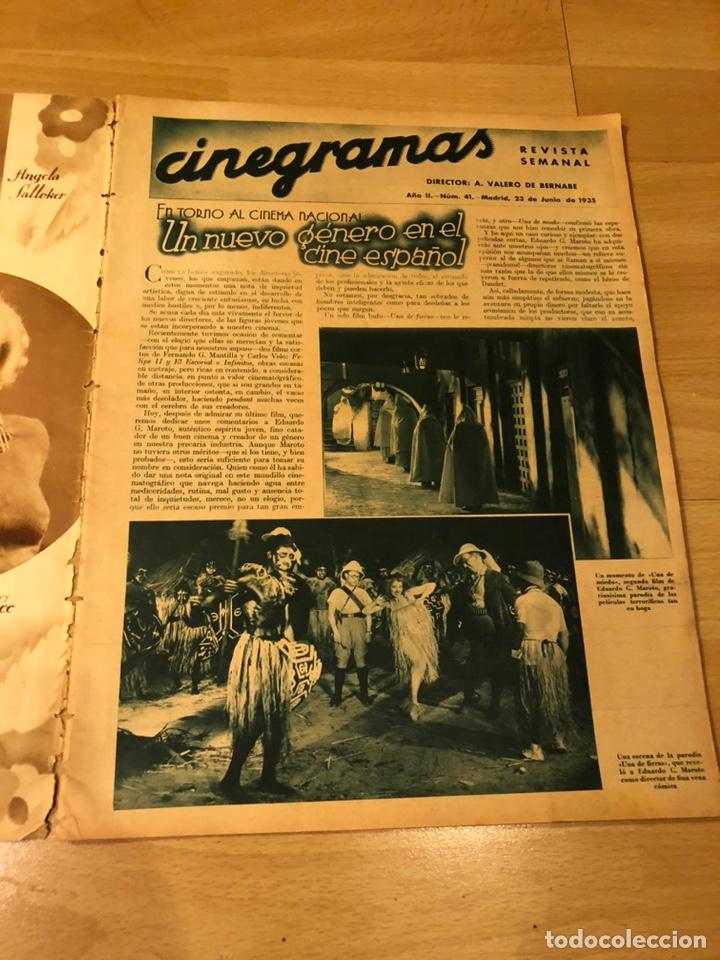 Cine: Cinegramas 41.madeleine carroll.katharine hepburn.ricardo cortez.rodolfo Valentino.estoril cartel - Foto 7 - 183432217