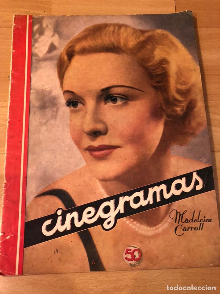 CINEGRAMAS 41.MADELEINE CARROLL.KATHARINE HEPBURN.RICARDO CORTEZ.RODOLFO VALENTINO.ESTORIL CARTEL (Cine - Revistas - Cinegramas)