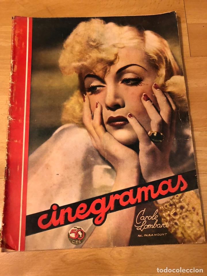CINEGRAMAS 94.CAROLE LOMBARD.HISTORIA DE DOS CIUDADES.CLAUDETTE COLBERT (Cine - Revistas - Cinegramas)