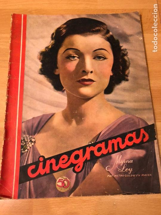 CINEGRAMAS 78.MYRNA LOY.JOAN CRAWFORD.BORIS KARLOFF.WARNER BAXTER (Cine - Revistas - Cinegramas)