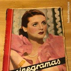 Cine: CINEGRAMAS 58 FRANCÉS GRANT.JEANETTE MACDONALD GEORGE RAFT BARBARA STANWYCK.HOJAS SUELTAS. Lote 183434085