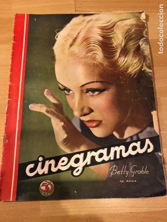 CINEGRAMAS 85.BETTY GRABLE.DOUGLAS FAIRBANKS.ABEL GANCE.CLAIRE TREVOR.REBELION BORDO SHIRLEY TEMPLE (Cine - Revistas - Cinegramas)