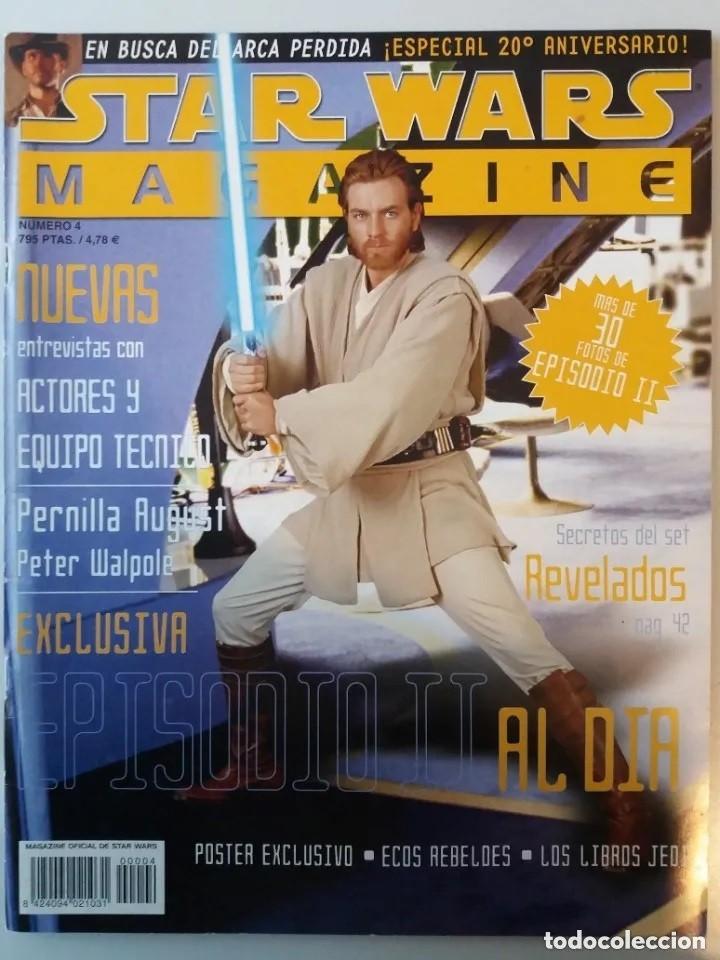 STAR WARS MAGAZINE Nº 4 NOVIEMBRE/DICIEMBRE 2001 (Cine - Revistas - Star Ficcion)