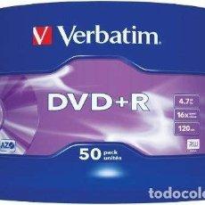 Cine: VERBATIM PACK DE DVD+R VÍRGENES (50 UNIDADES, 4.7 GB, 16X). Lote 183484807