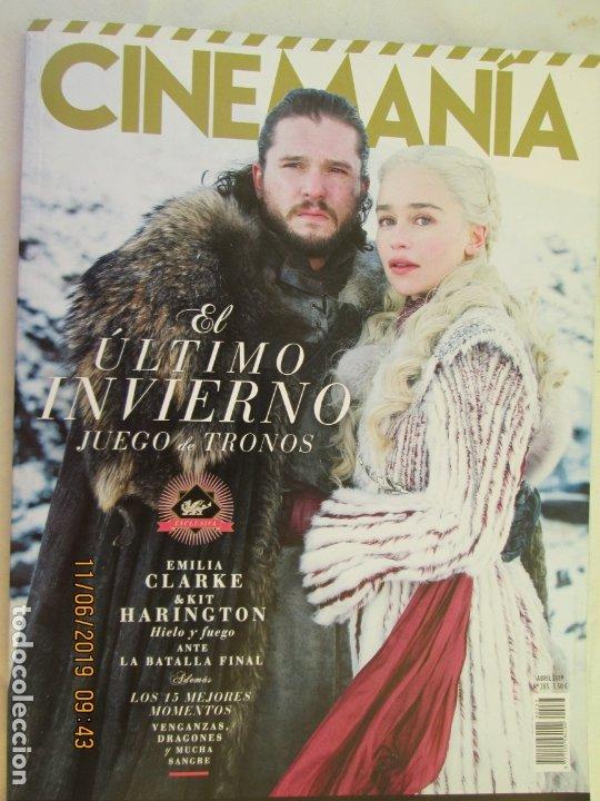 CINEMANIA , EL ULTIMO INVIERNO , JUEGO DE TRONOS - EMILIA CLARKE & KIT HARINGTON 04-2019 (Cine - Revistas - Cinemanía)
