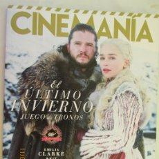 Cine: CINEMANIA , EL ULTIMO INVIERNO , JUEGO DE TRONOS - EMILIA CLARKE & KIT HARINGTON 04-2019 . Lote 183546432
