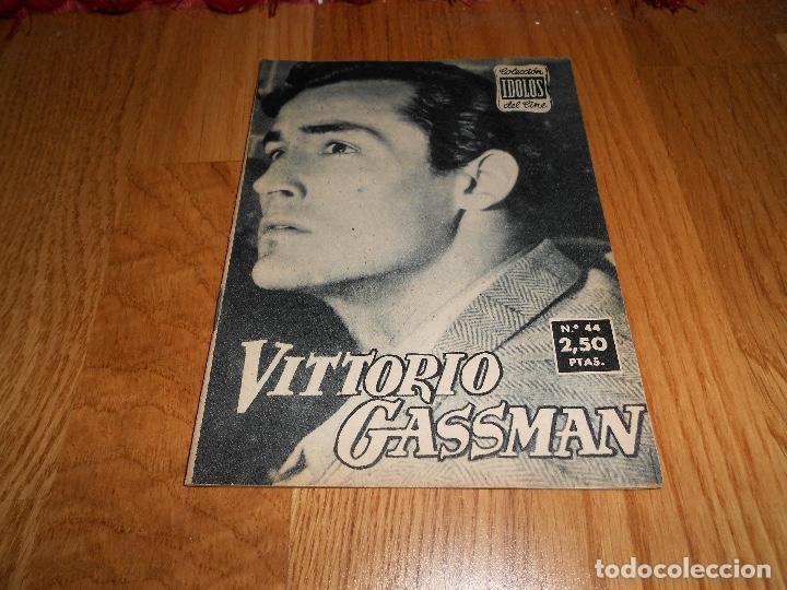 IDOLOS DEL CINE Nº 44 - VITTORIO GASSMAN - 1958 (Cine - Revistas - Colección ídolos del cine)
