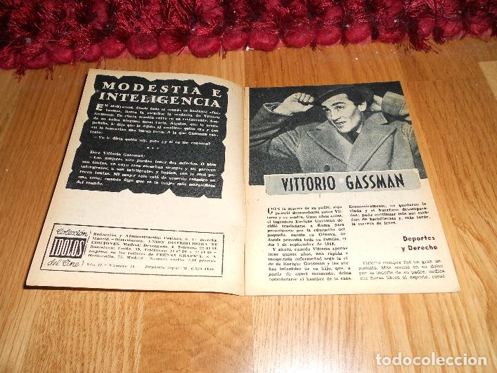 Cine: Idolos del Cine nº 44 - Vittorio Gassman - 1958 - Foto 2 - 183568668