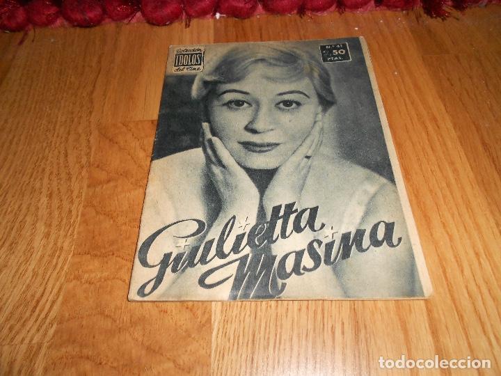 GIULIETTA MASINA - COLECCION IDOLOS DEL CINE Nº 41 AÑO 1958 (Cine - Revistas - Colección ídolos del cine)