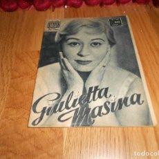 Cine: GIULIETTA MASINA - COLECCION IDOLOS DEL CINE Nº 41 AÑO 1958. Lote 183568795