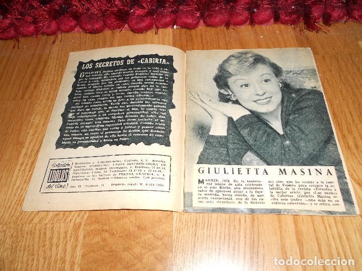 Cine: Giulietta masina - coleccion idolos del cine nº 41 año 1958 - Foto 2 - 183568795
