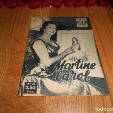 Cine: IDOLOS DEL CINE Nº 33 - MARTINE CAROL - 1958. Lote 183568851