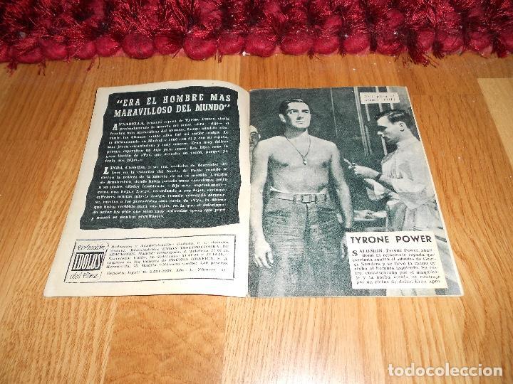 Cine: COLECCIÓN ÍDOLOS DEL CINE 25. TYRONE POWER. Prensa Gráfica, Diciembre 1958 - Foto 2 - 183569057
