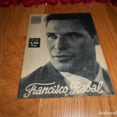 Cine: FRANCISCO RABAL, COLECCION IDOLOS DEL CINE Nº 14. Lote 183570796