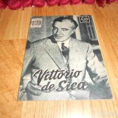 Cine: COLECCIÓN ÍDOLOS DEL CINE 11 VITTORIO DE SICA PRENSA GRÁFICA 28 AGOSTO 1958. Lote 183571006