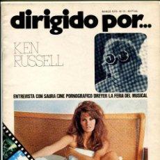 Cine: REVISTA DIRIGIDO POR, Nº 31. CON CARLOS SAURA Y KEN RUSSELL.. Lote 183600632