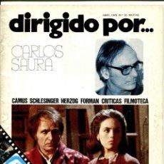 Cine: REVISTA DIRIGIDO POR, Nº 32. CON CARLOS SAURA.. Lote 183600976