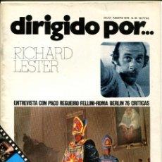 Cine: REVISTA DIRIGIDO POR, Nº 35. CON FELLINI Y RICHARD LESTER.. Lote 183601856