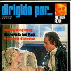 Cine: REVISTA DIRIGIDO POR, Nº 39. CON ARTHUR PENN.. Lote 183602836